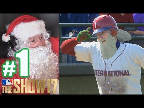 SANTA'S EPIC FIRST GAME! | MLB The Show 17 | Road to the Show #1