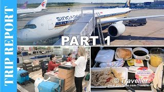 SINGAPORE AIRLINES TRIP REPORT - Economy Class on Airbus A350 Changi Airport to Stockholm via MOSCOW