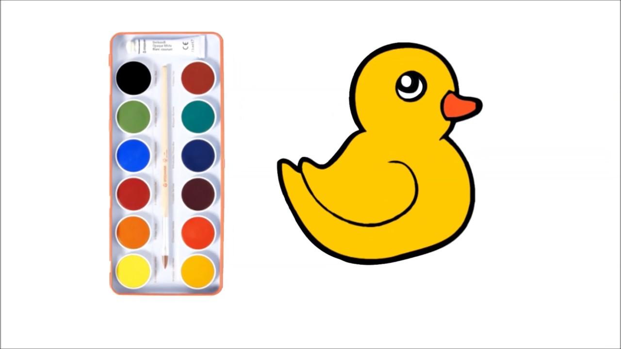 Cocuklar Icin Ordek Cizimi Ve Boyamasi Duck Painting For Kids