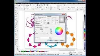 Видео уроки CorelDraw  Инструмент Кисть  Режим Заготовка