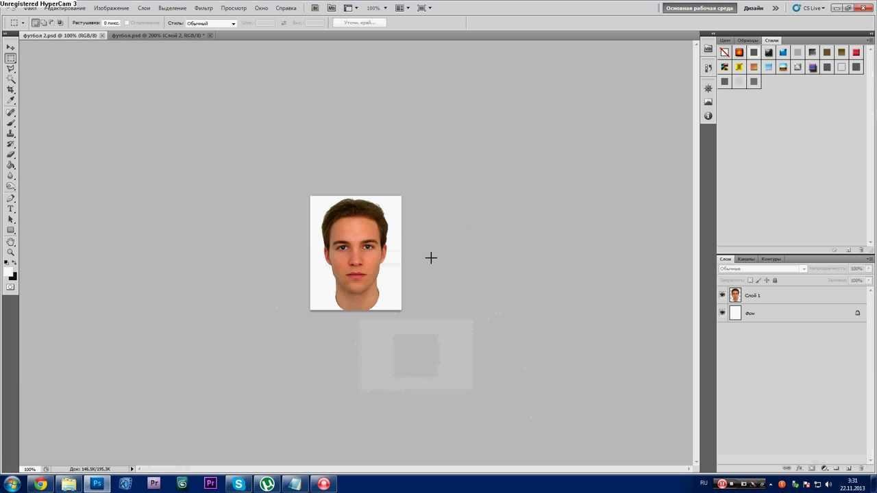 Урок Photoshop. 752 канал (Урок #19 Как в фотошопе стать известным футболистом?) (#ЕвгенийКулик)