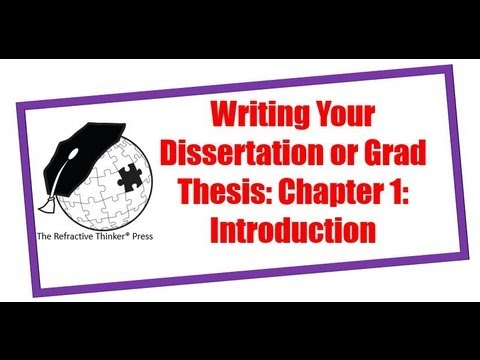 Tip #1: How to Craft a Doctoral Dissertation, PhD Research or Graduate Thesis: Chap 1: Introduction