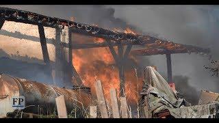 Scheune in Chemnitz-Ebersdorf brennt nieder