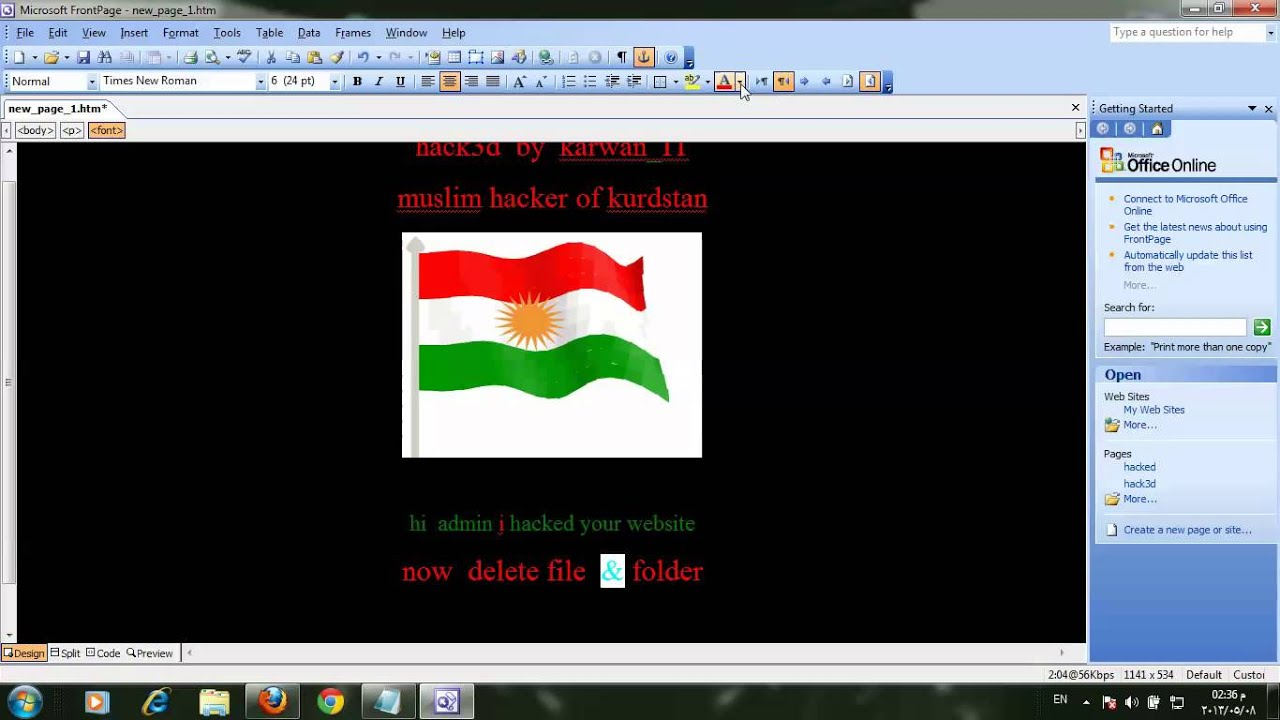 how to make index on front page - YouTube Frontpage Page on