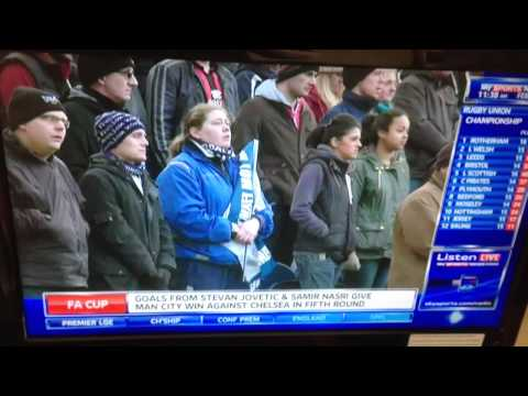 Harry on Sky Sports News as mascot - Sir Tom Finney tribute