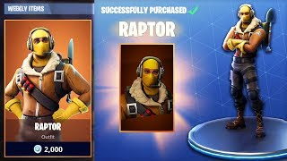 BUYING *NEW* RAPTOR OUTFIT in Fortnite Battle Royale! | IS IT WORTH IT?