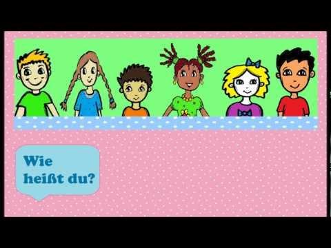 """Deutsch lernen: Wie heißt du? - einfaches Kinderlied - """"What's your name?"""" German song for kids"""