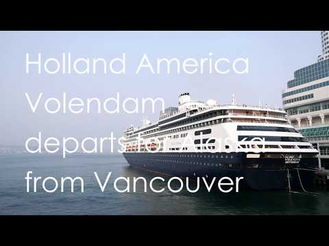 "Holland America ""Volendam"" departs for Alaska from Vancouver Canada Place (01)"