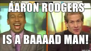 Stephen A & Skip Bayless REACTION: Aaron Rodgers Hail Mary pass, Packers beat Lions