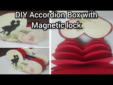 DIY Lovely Accordion Box Album, Gift Ideas for Birthday,Heart shape Paper craft @Papersai arts