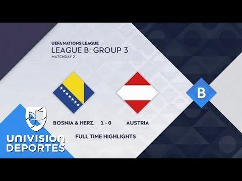 Bosnia & Herzegovina 1-0 Austria - GOL Y RESUMEN - UEFA Nations League