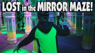 LOST in the INFINITE MIRROR MAZE!!!