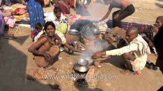 Cooking in the sand at the Allahabad Kumbh Mela: India