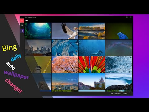 Change Desktop Wallpapers Automatically On Windows & Macbook With Microsoft Bing Desktop App