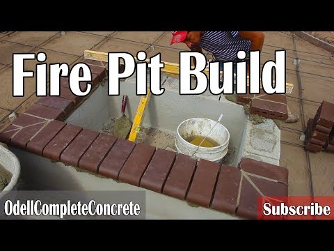 How to Build a Fire Pit With Concrete Patio DIY