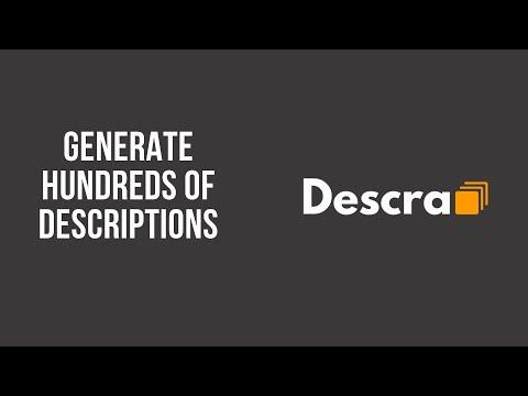 Product description generation with Descra