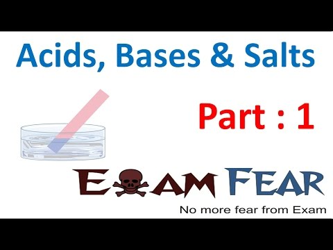 Chemistry Acid Base Salts Part 1 (Introduction) Class 7 VII