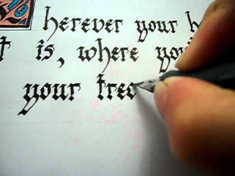 Gothic calligraphy youtube Handwriting calligraphy