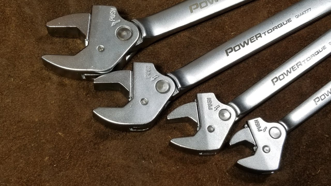 Gm Powertorque Ratcheting Open End Wrench Set Review Youtube