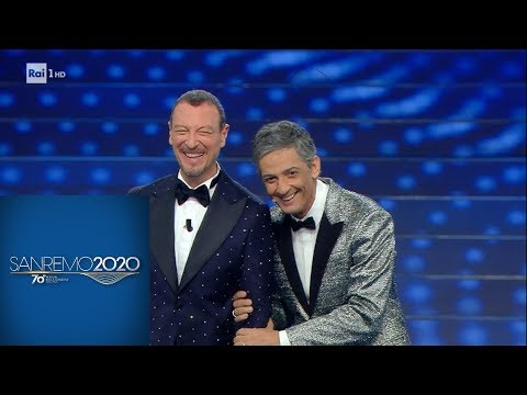 Sanremo 2020 - Fiorello e il monologo sull'età che avanza