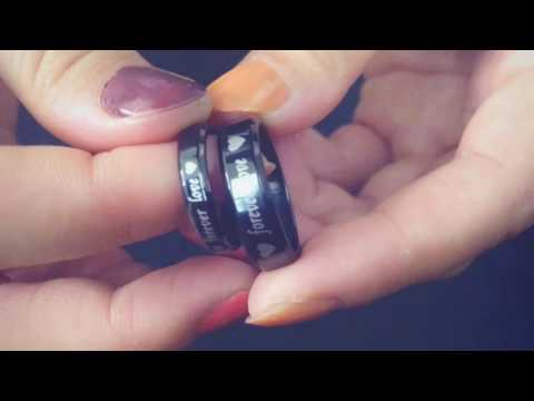 nl140612 8 couples rings daily customize forever love titanium steel black