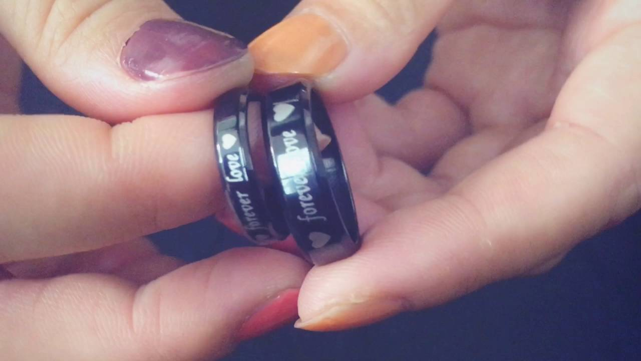 nl140612 8 couples rings daily customize forever love titanium steel ...