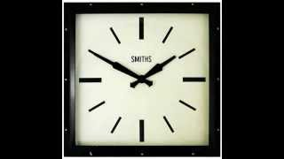Smiths Deco Square Black Wall Clock   41cm
