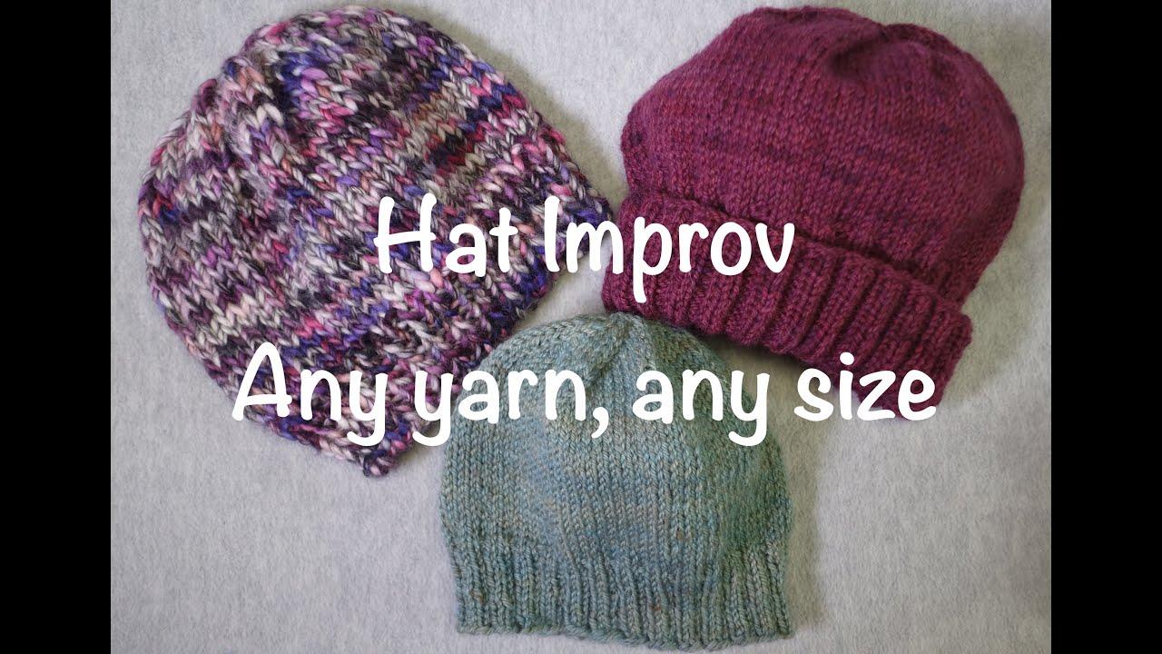 double knit hat pattern adult size
