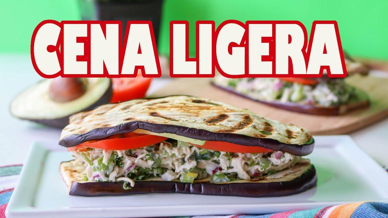 Cena Baja En Calorias Sandwich De Berenjena Youtube