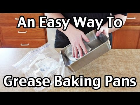 An Easy Way To Grease Baking Pans