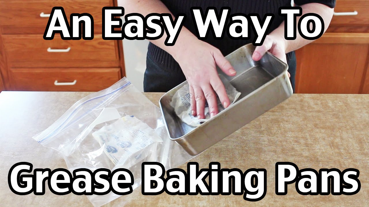 how to get baked grease off pans