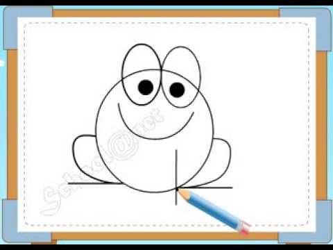 BÉ HỌA SĨ – Thực hành tập vẽ 184: Vẽ con ếch