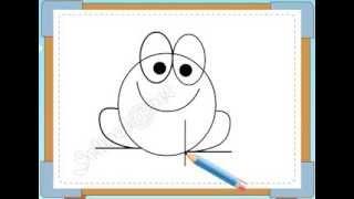BÉ HỌA SĨ - Thực hành tập vẽ 184: Vẽ con ếch