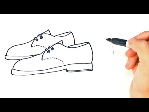 How to draw a Pair of Shoes Step by Step