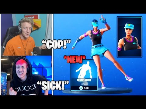 STREAMERS Reacts TO *NEW* 'Volley Girl' Skin & Whirlwind' Emote/Dance! (Fortnite Moments)