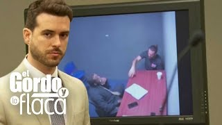 Muestran en audiencia el video donde Pablo Lyle es interrogado horas después del incidente | GYF
