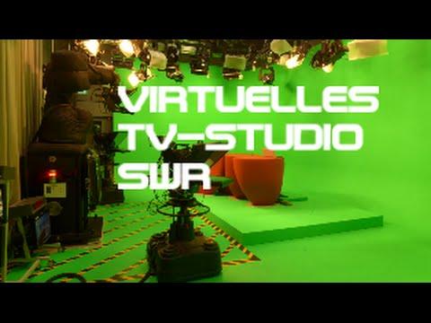 Grünes virtuelles Fernsehstudio SWR Stuttgart - Green virtual TV studio