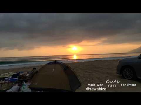 Sun Rise in OMAN (sifah beach) - camping trip