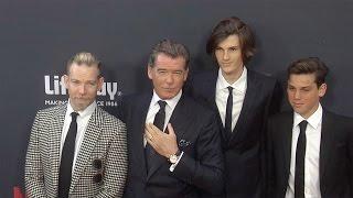 Pierce Brosnan with Sons Sean, Dylan & Paris //