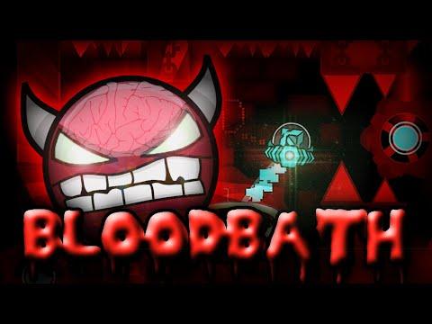 "Geometry Dash - ""BLOODBATH"" [EXTREME Demon] by Riot & more! | GuitarHeroStyles"