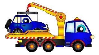 Мультфильмы про машины: Эвакуатор спасает Джип thumbnail