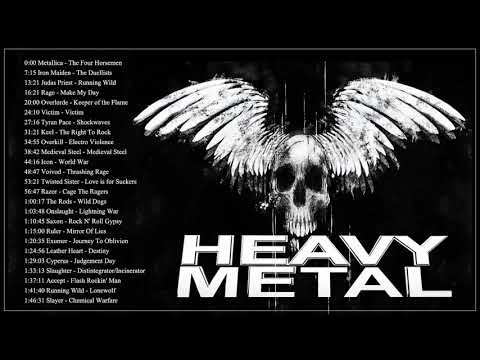 Iron Maiden, ,Metallica, Helloween, Black Sabbath - Heavy Metal Hard Rock Music 2019