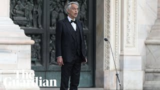 Music for Hope Italian tenor Andrea Bocelli performs in empty Milan cathedral