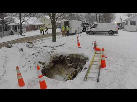 "The 4"" Natural Gas Main line broke in front of my house today"