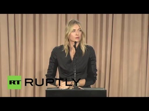 'I failed drug test at Australian Open' - Sharapova