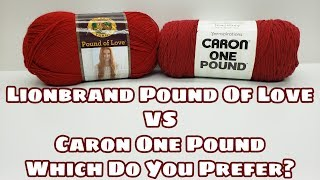 Yarn Review - Lionbrand Vs Caron | Which Do You Choose | Bag-O-Day Crochet Video