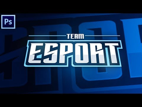 Tutorial: Creating A Clean Mascot/eSports Text Logo In Photoshop! (EASY)