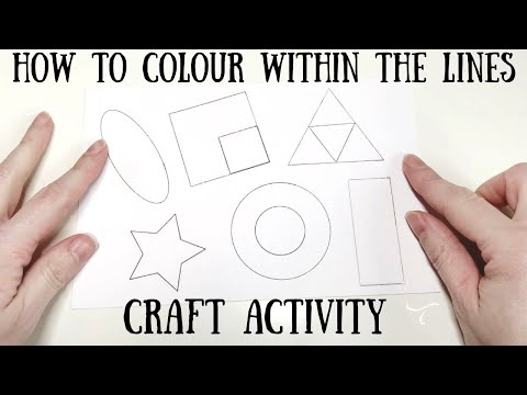 How to colour within the lines - craft activity
