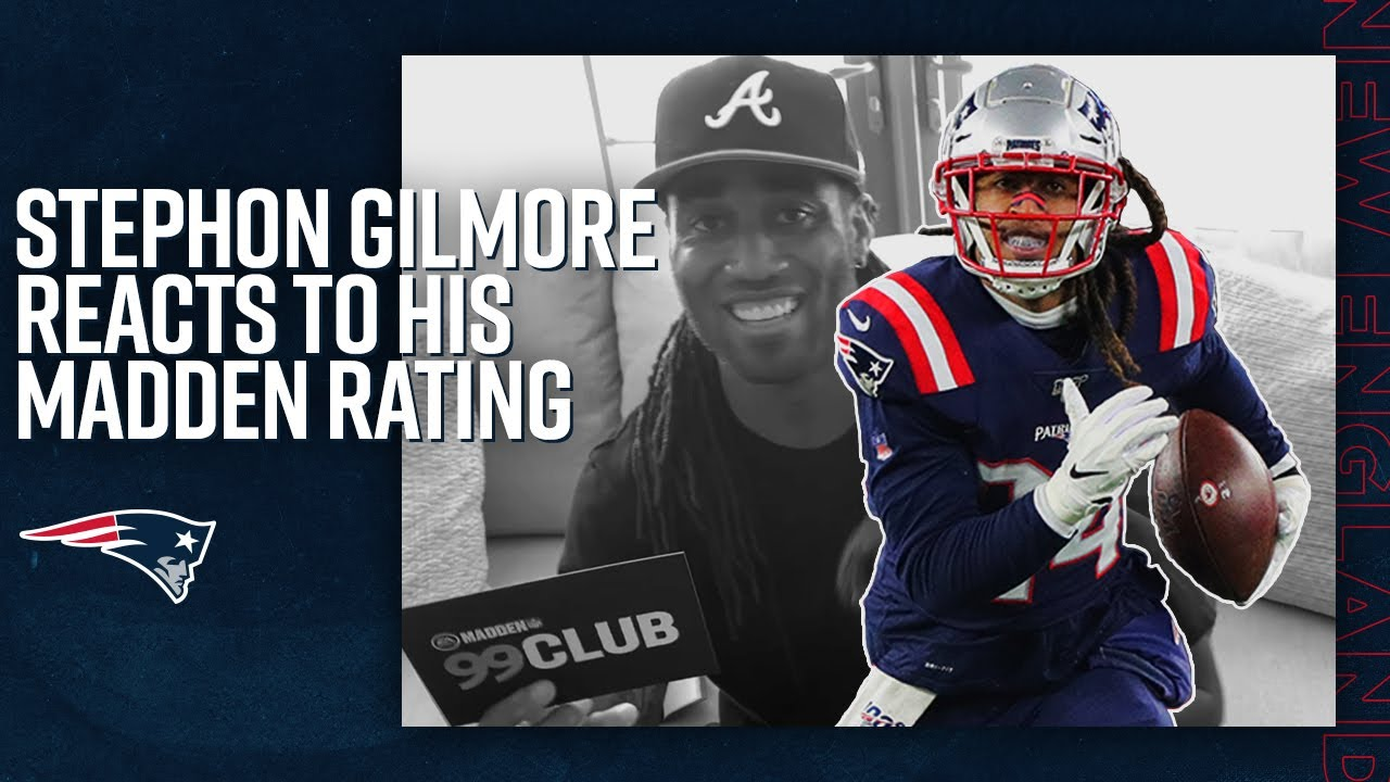 """Stephon Gilmore Reacts to 99 Rating in Madden 21: """"Who would have known?"""""""