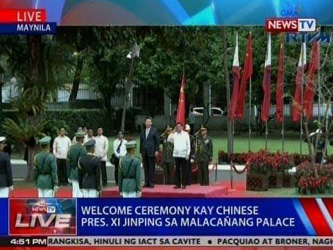NTVL: Welcome ceremony kay Chinese Pres. Xi Jinping sa Malacañang Palace